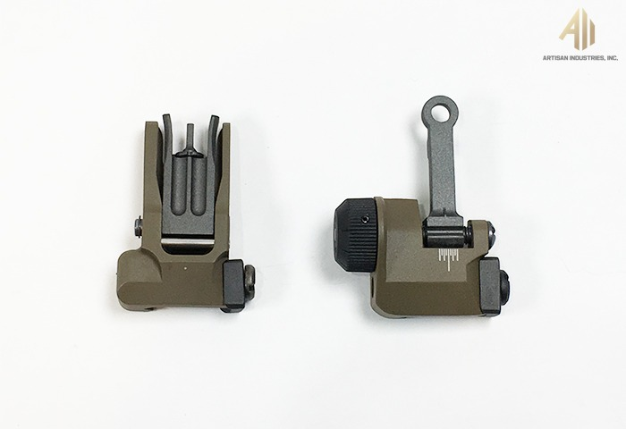 [VFC] Knight Type FlipUp Front / Rear Sight (TAN) SET